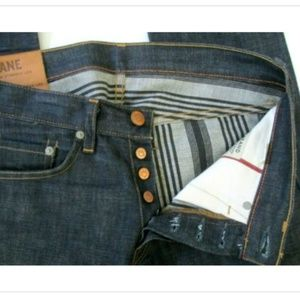 J BRAND KANE 30 Dark Raw Button Fly Selvedge Jeans